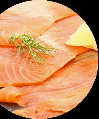 safa saumon tranché
